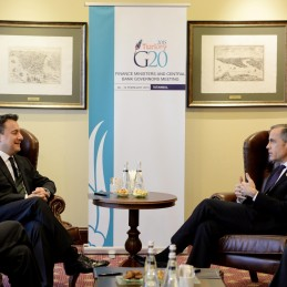 Bilateral Meeting Between DPM Babacan and BoE Governor Mark Carney