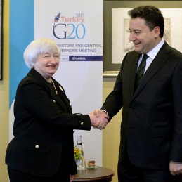 Bilateral Meeting Between DPM Babacan and Fed Chair Janet Yellen