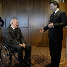 Bilateral Meeting Between DPM Babacan and German Minister of Finance Wolfgang Schauble