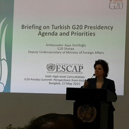 Turkey's G20 Sherpa Briefed the UN Member States in New York and in Bangkok